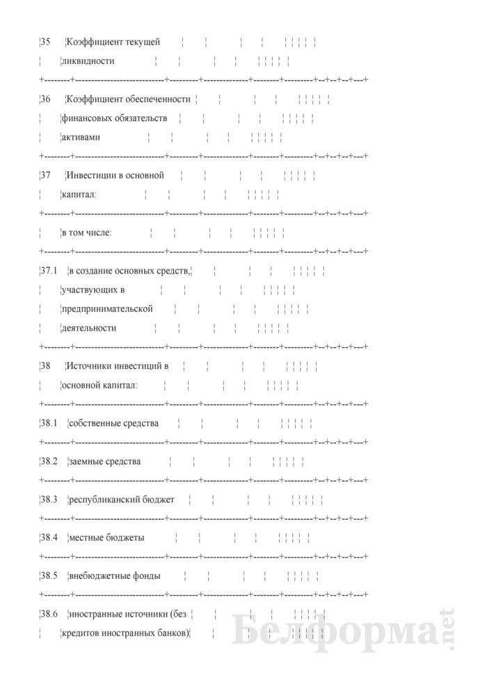 Основные показатели развития коммерческой организации на очередной год (для коммерческих организаций коммунальной собственности города Минска, негосударственных коммерческих организаций, акции (доли) которых принадлежат городу Минску). Страница 6