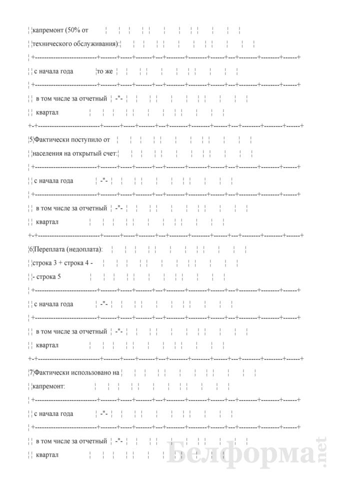Отчет об отчислениях на капитальный ремонт по району. Страница 2