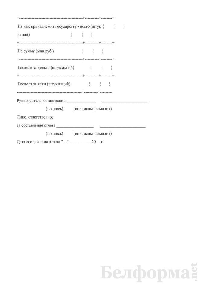 Сведения о долях коммунальной собственности в уставных фондах открытых акционерных обществ, созданных в процессе приватизации коммунальной собственности. Страница 3