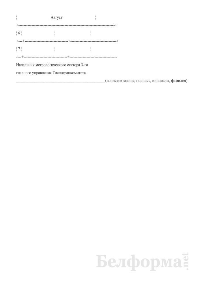График проведения поверки и регулировки средств измерений на выезде ПЛИТ. Страница 2