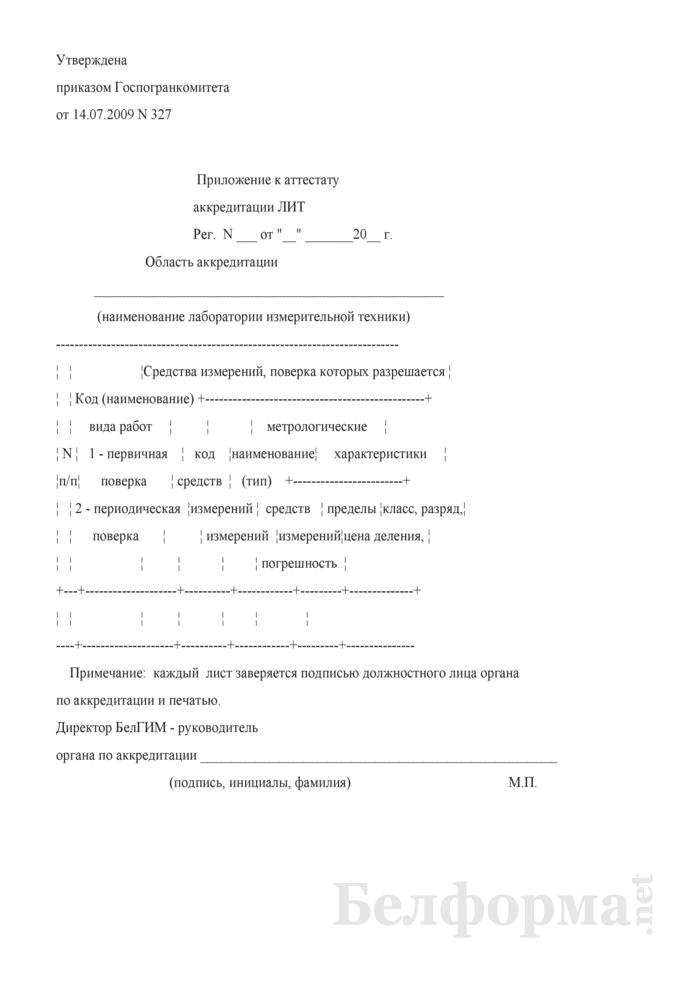Область аккредитации лаборатории измерительной техники. Страница 1