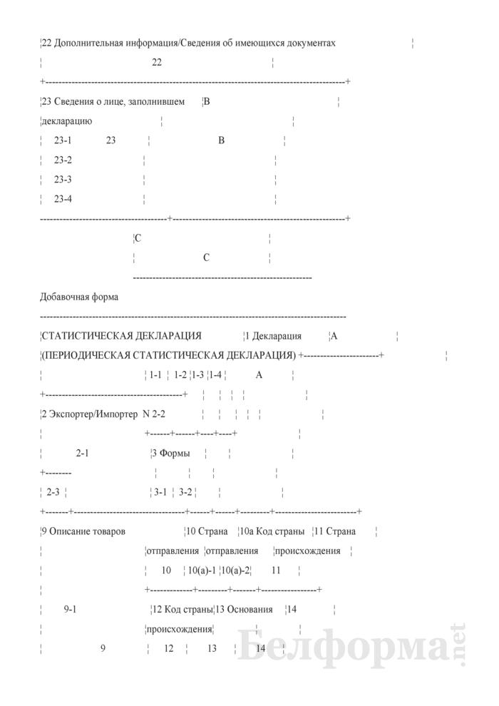 Форма внешнего представления статистической декларации и периодической статистической декларации. Страница 5