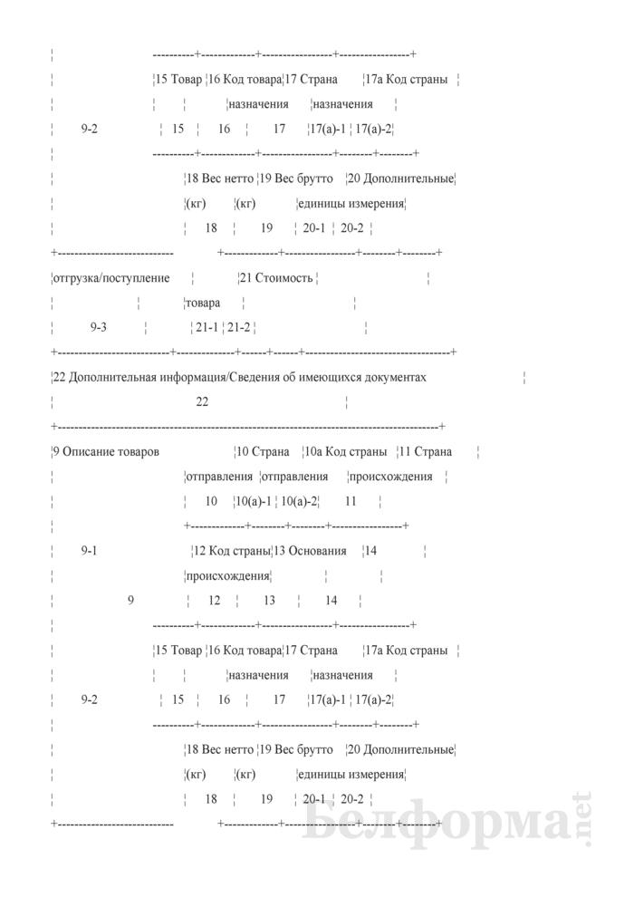 Форма внешнего представления статистической декларации и периодической статистической декларации. Страница 6