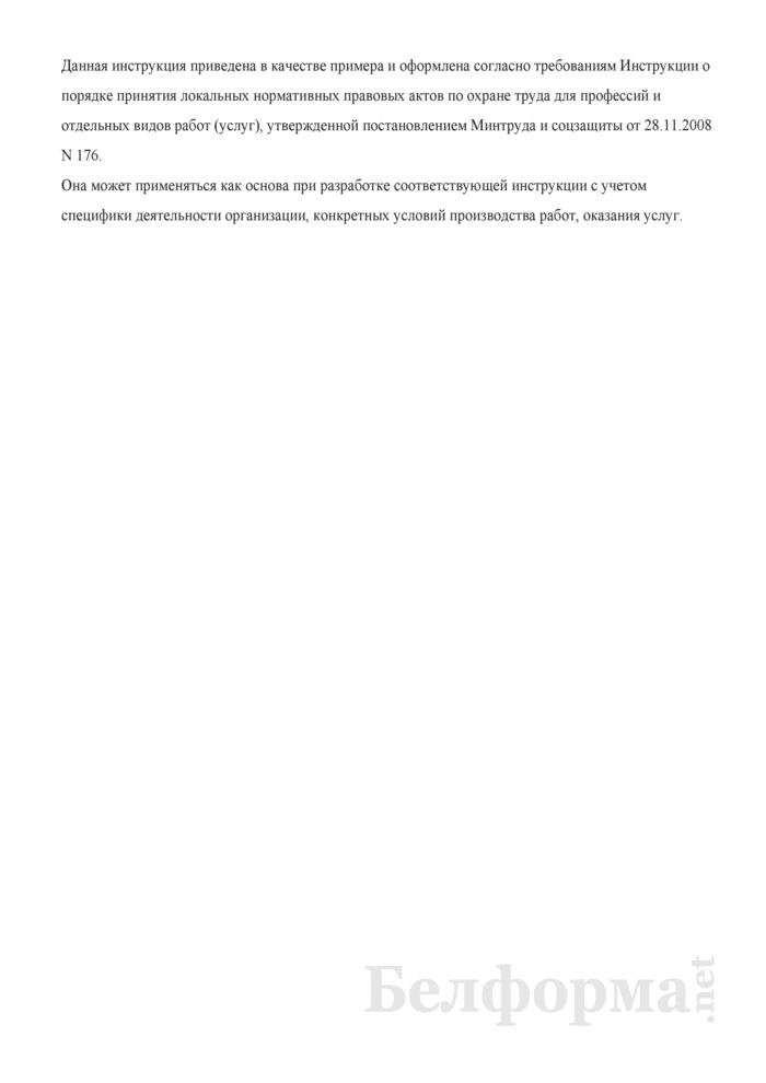 Инструкция по охране труда для заведующего складом (для работников, занятых в проведении погрузочно-разгрузочных работ и размещении грузов). Страница 8