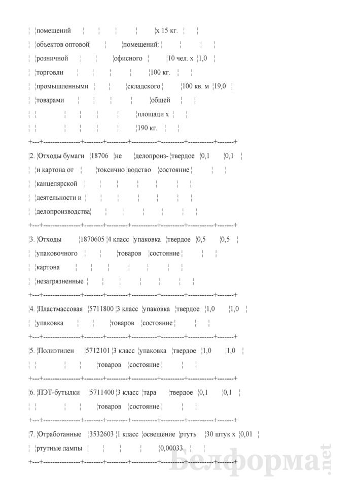 Инструкция по обращению с отходами производства. Страница 8