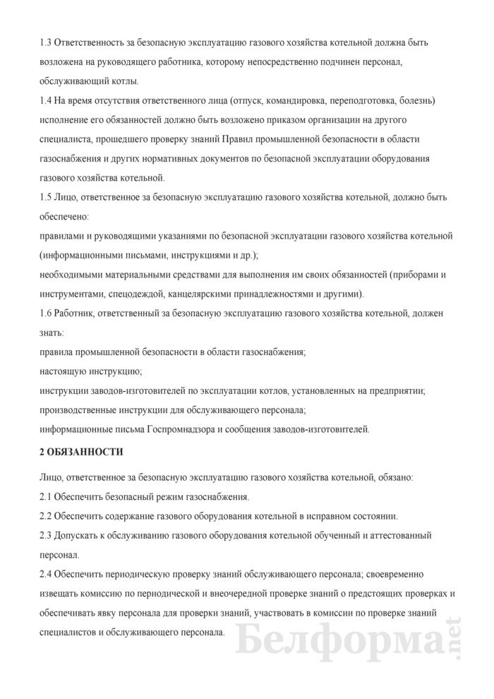 Общая инструкция лицу, ответственному за безопасную эксплуатацию объектов газораспределительной системы и газопотребления. Страница 2