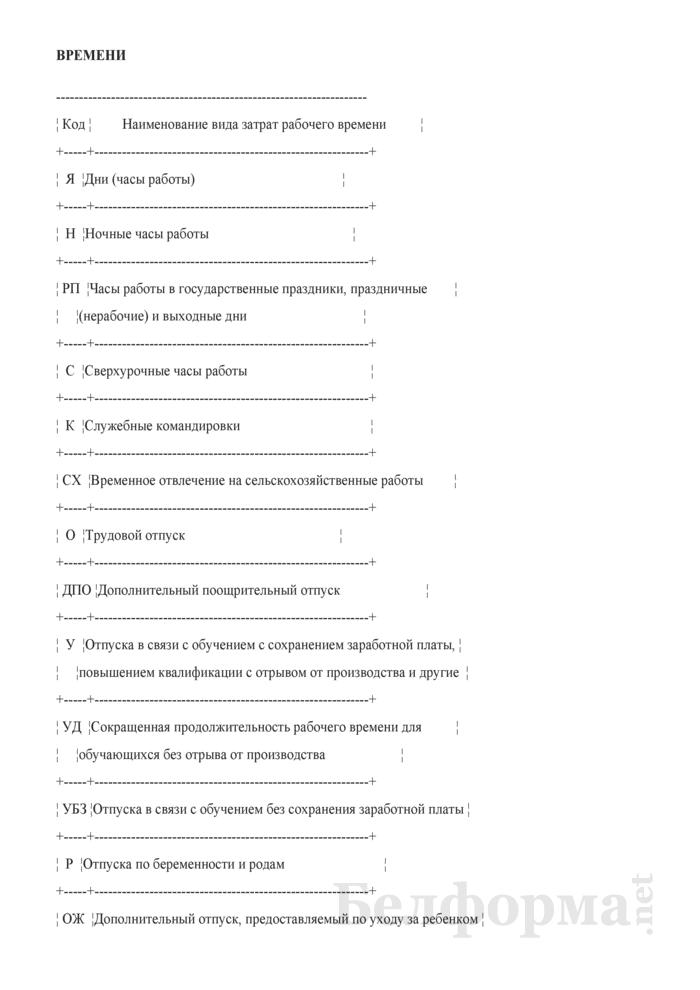 Примерная инструкция по табельному учету на предприятии. Страница 10