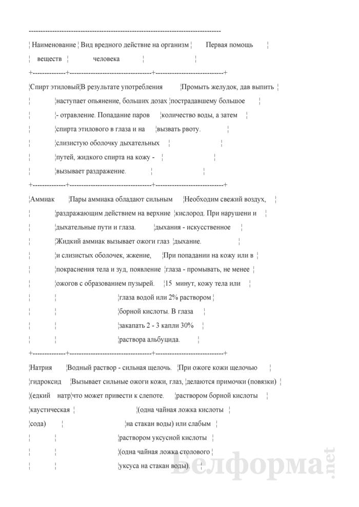 Программа (инструкция) вводного инструктажа по охране труда. Страница 104