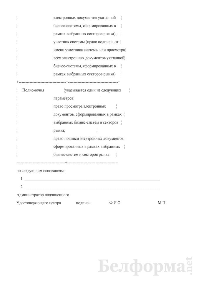 Извещение о приостановлении / прекращении действия сертификата открытого ключа проверки подписи. Страница 2