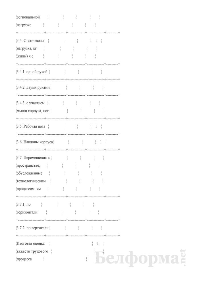 Карта аттестации рабочего места по условиям труда (Образец заполнения). Страница 9