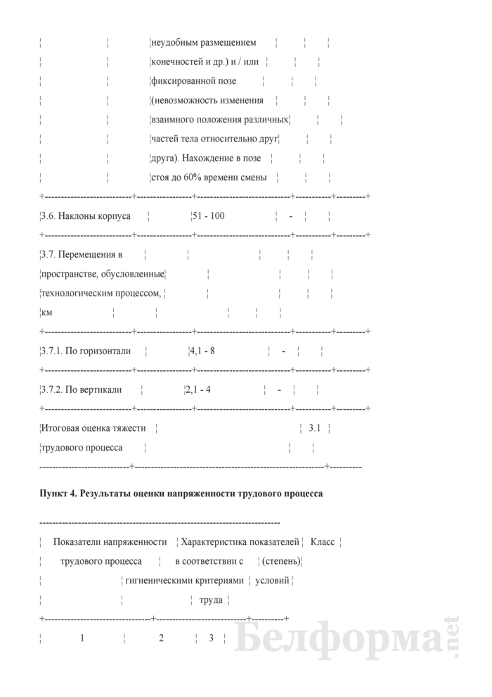 Пример заполнения карты аттестации рабочего места по условиям труда. Страница 8