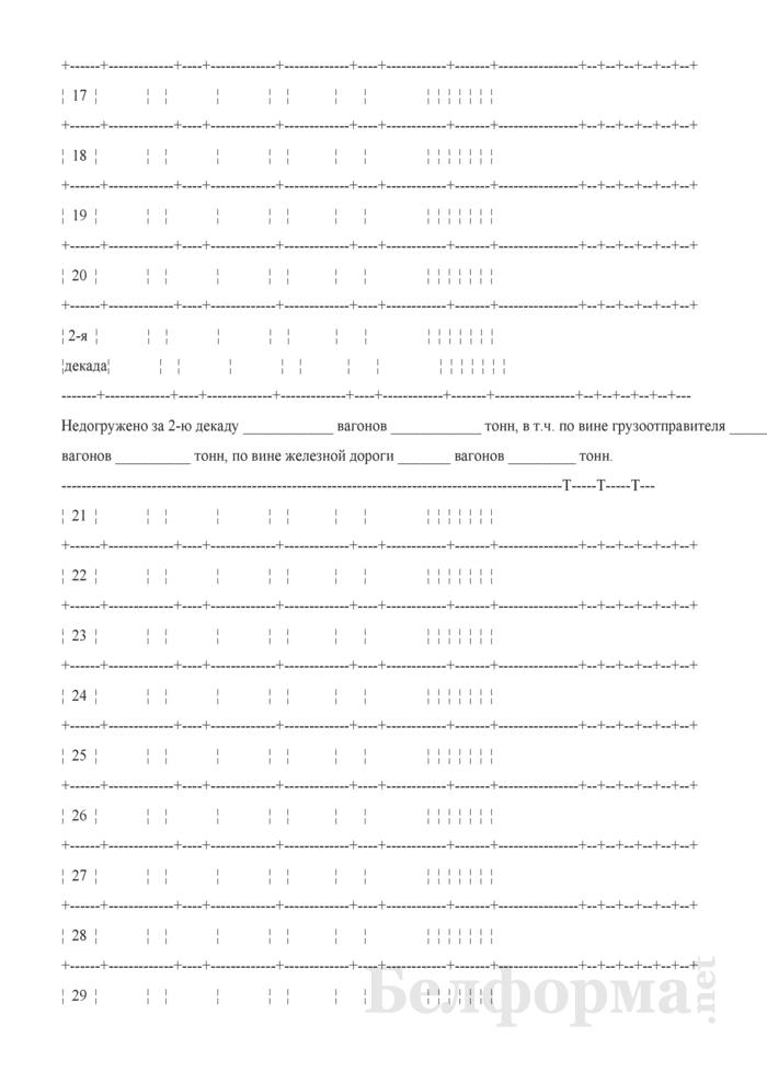 Учетная карточка выполнения заявки на перевозку грузов (Форма ГУ-1). Страница 3