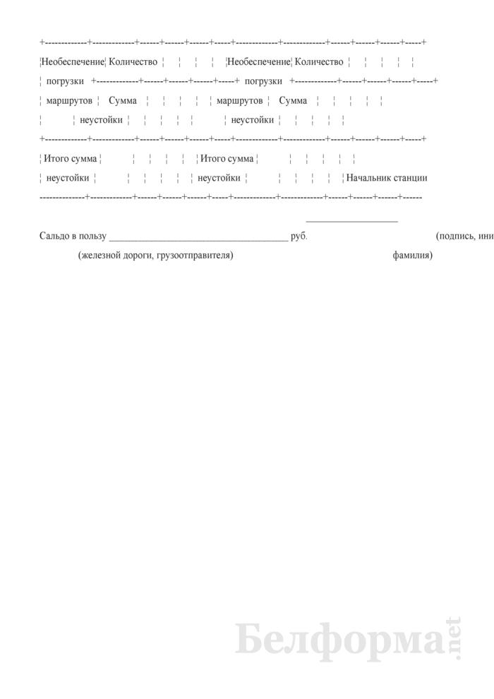 Учетная карточка выполнения заявки на перевозку грузов (Форма ГУ-1). Страница 5