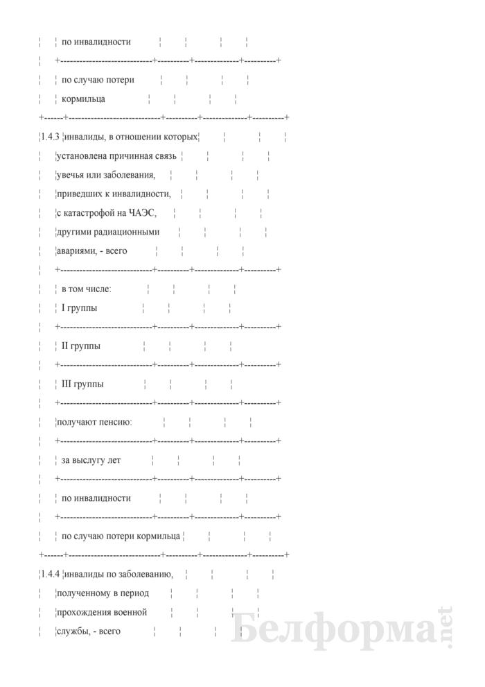 Сведения о численности и составе пенсионеров. Страница 4