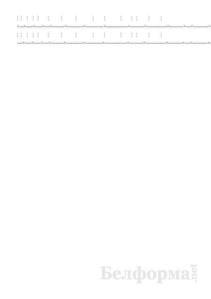 Книга учета движения трудовых книжек и вкладышей к ним (Образец заполнения). Страница 2