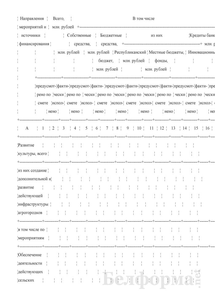 Сведения об исполнении сметы расходов на финансирование Государственной программы возрождения и развития села на 2005 - 2010 годы (квартальная). Страница 2