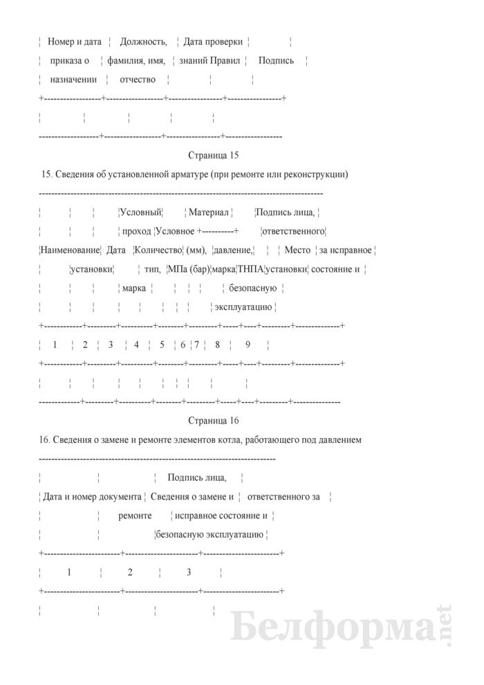 Паспорт котла (автономного пароперегревателя, экономайзера). Страница 12