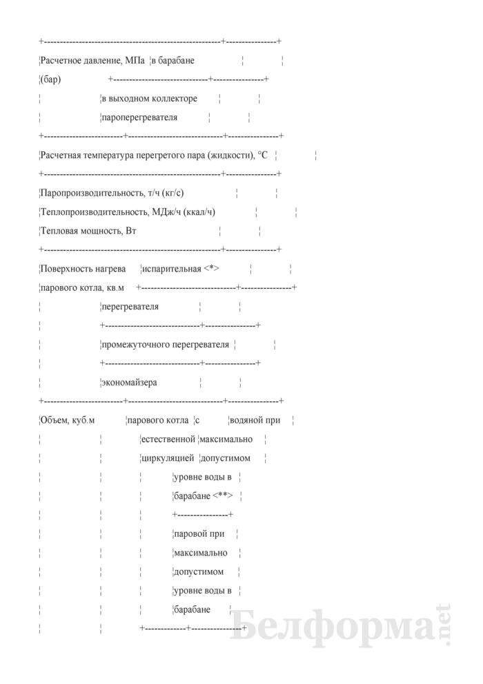 Паспорт котла (автономного пароперегревателя, экономайзера). Страница 4
