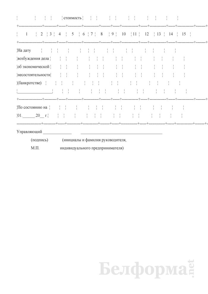 Отчет о хозяйственной (экономической) деятельности должника. Страница 2