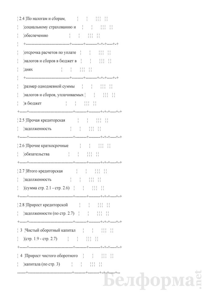 Расчет потребности в чистом оборотном капитале (при разработке бизнес-планов инвестиционных проектов). Страница 4