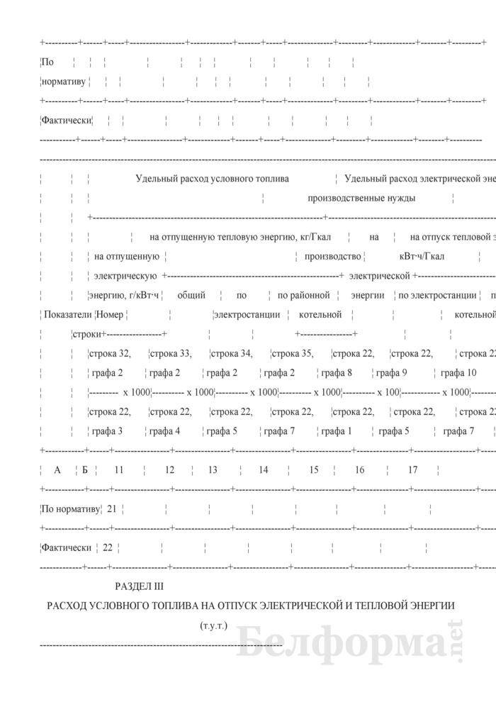 Отчет о работе тепловой электростанции. Форма № 6-тп-т (годовая). Страница 3