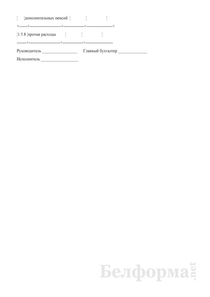 Отчет о распределении, использовании чистой прибыли и расходах на потребление. Страница 19