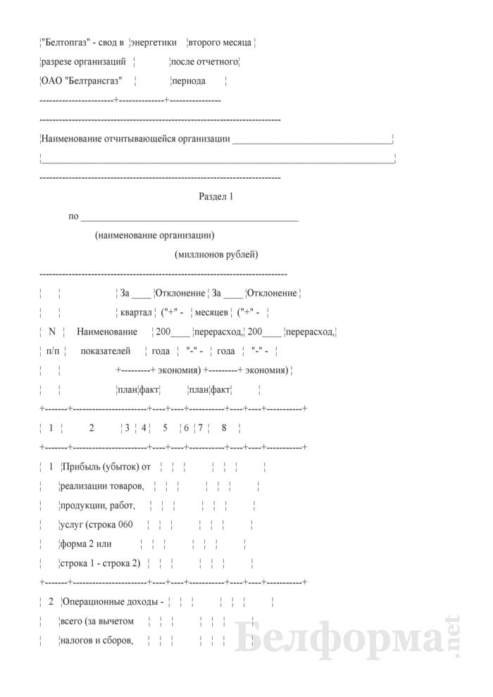 Отчет о распределении, использовании чистой прибыли и расходах на потребление (квартальная). Страница 2
