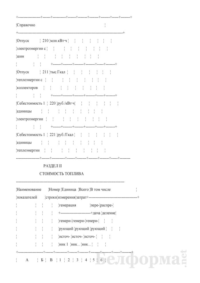 Отчет о затратах на генерацию, передачу и распределение энергии. Форма 2-смета. Страница 5