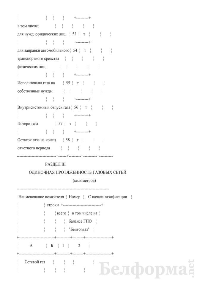 Отчет об использовании газа. Форма 2-газ. Страница 7