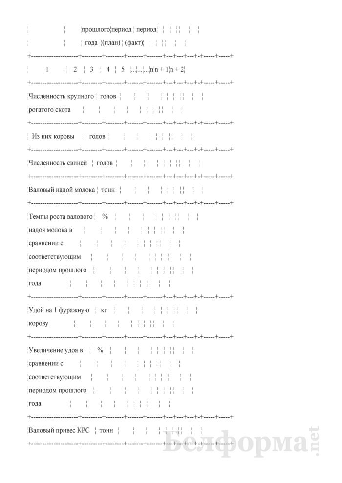 Показатели работы присоединенных сельскохозяйственных организаций. Форма № 1-СХ (квартальная). Страница 2