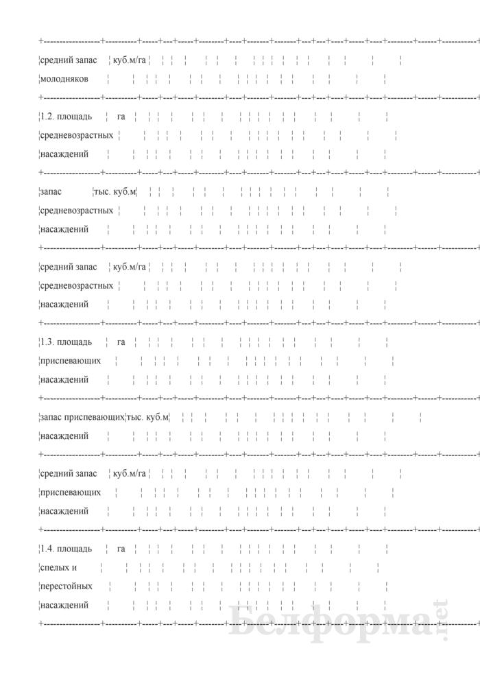 Форма 8К. Сведения о средних таксационных показателях и продуктивности лесов. Страница 2