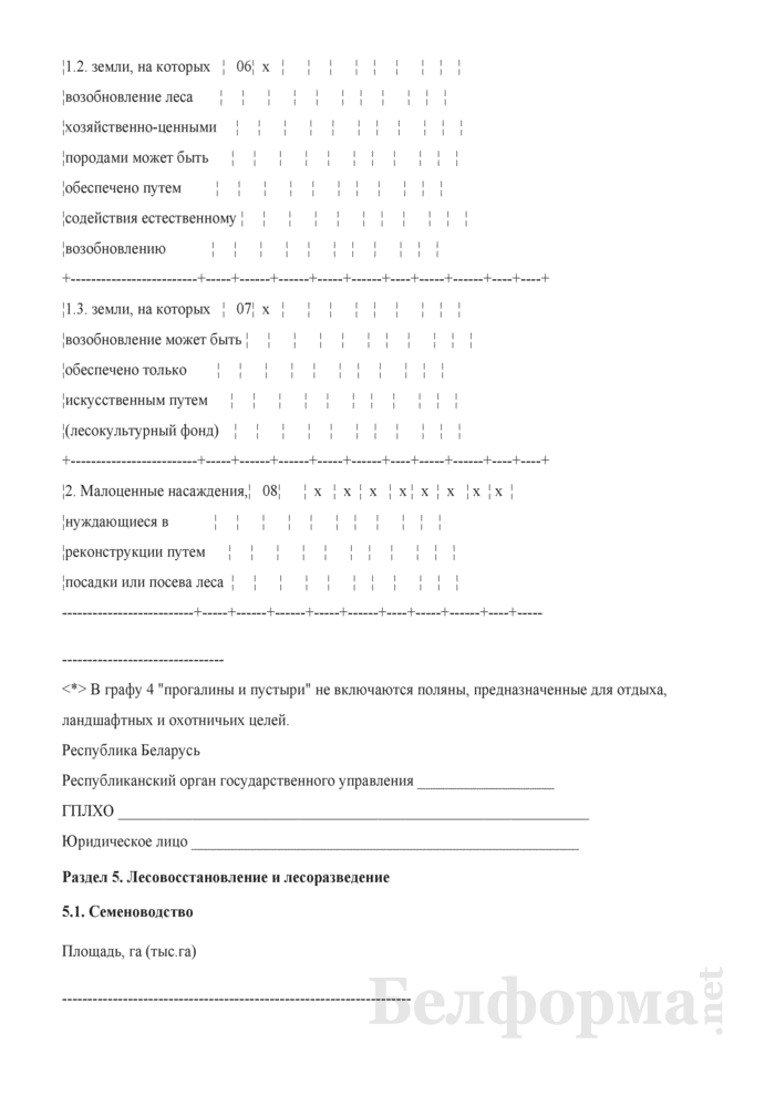 Общие сведения о лесном фонде (Форма 3). Страница 11