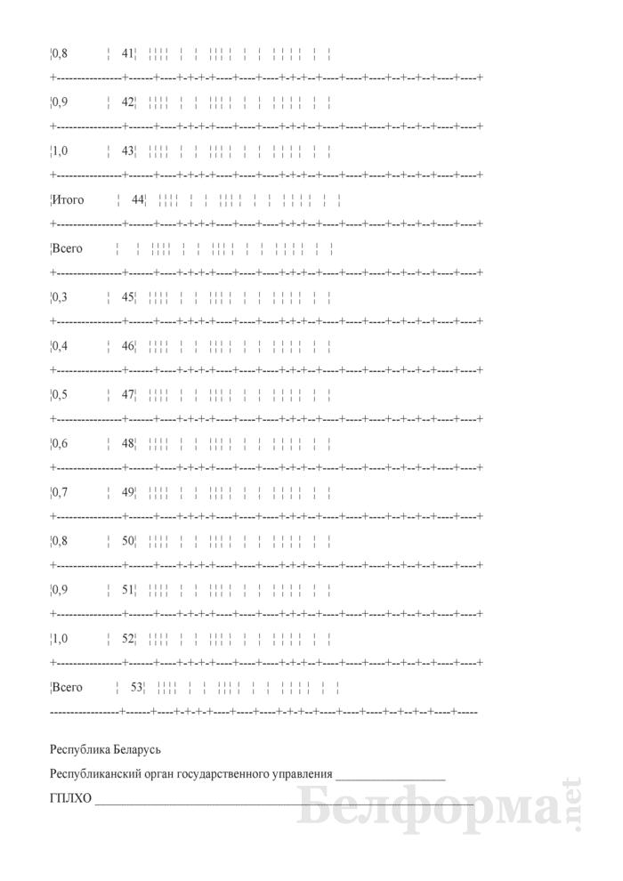 Общие сведения о лесном фонде (Форма 3). Страница 22