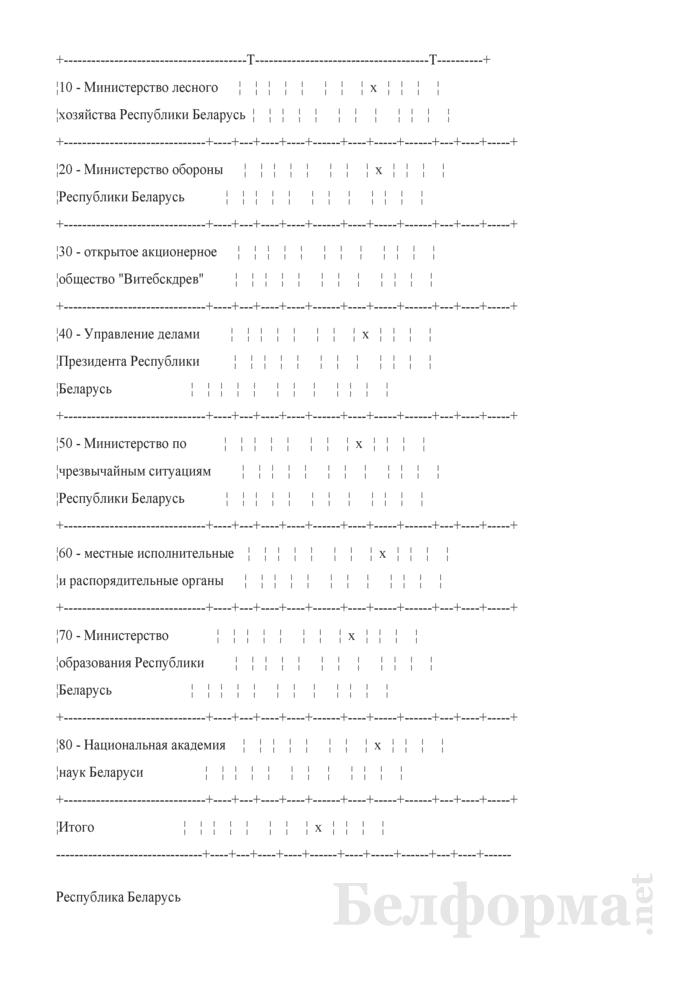 Общие сведения о лесном фонде (Форма 3). Страница 4