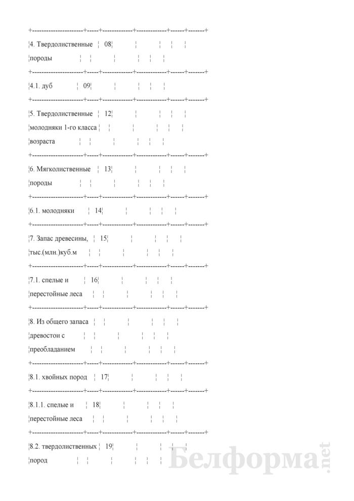 Общие сведения о лесном фонде (Форма 3). Страница 6