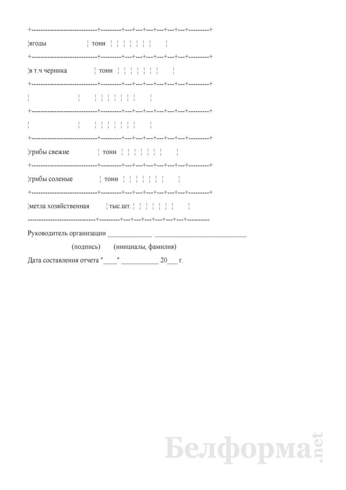 Отчет о заготовке продукции побочного лесопользования, второстепенных лесных ресурсов, живицы, рыбы и подсобного сельского хозяйства. Страница 6