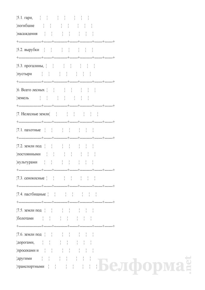 Программа пояснительной записки к сводной документации государственного учета лесного фонда. Страница 4