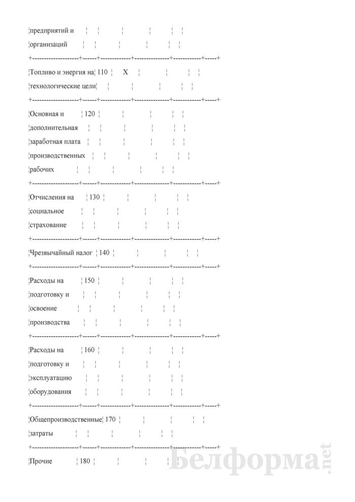 Сведения о себестоимости реализованной продукции (работ, услуг) по лесоэксплуатации. Страница 4