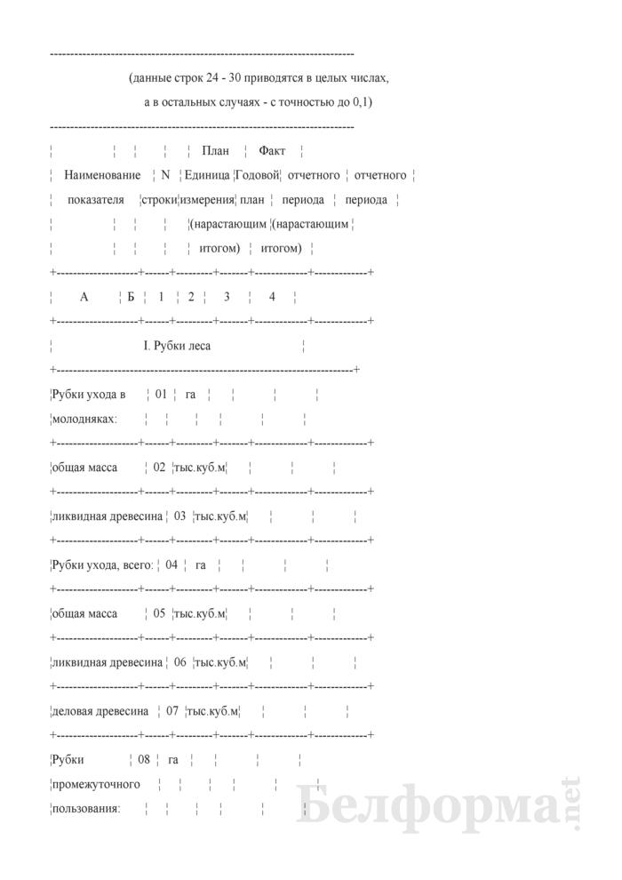 Сведения о выполнении показателей Государственной программы развития лесного хозяйства Республики Беларусь на 2011 - 2015 годы. Страница 2