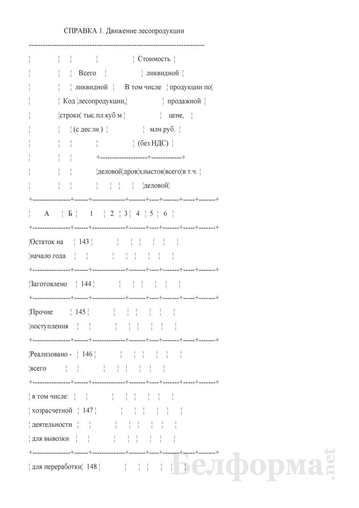 Сведения о выполнении производственного плана по лесному хозяйству. Страница 16