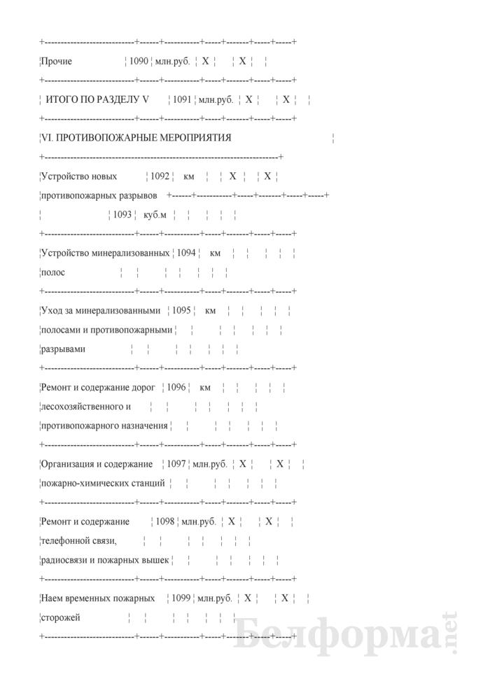 Сведения о выполнении производственного плана по лесному хозяйству. Страница 9