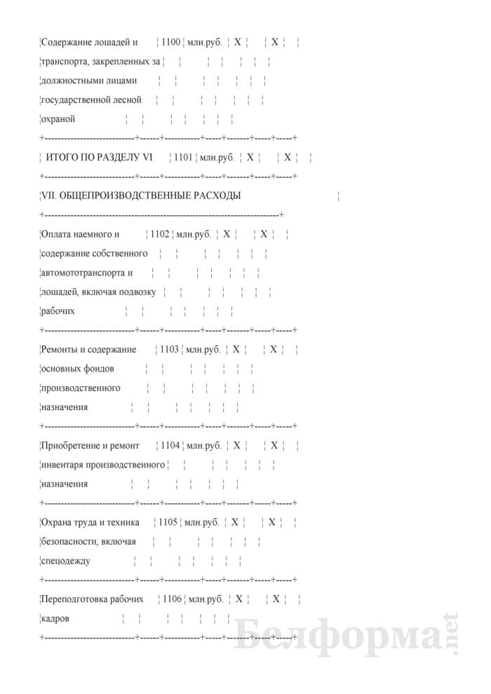 Сведения о выполнении производственного плана по лесному хозяйству. Страница 10