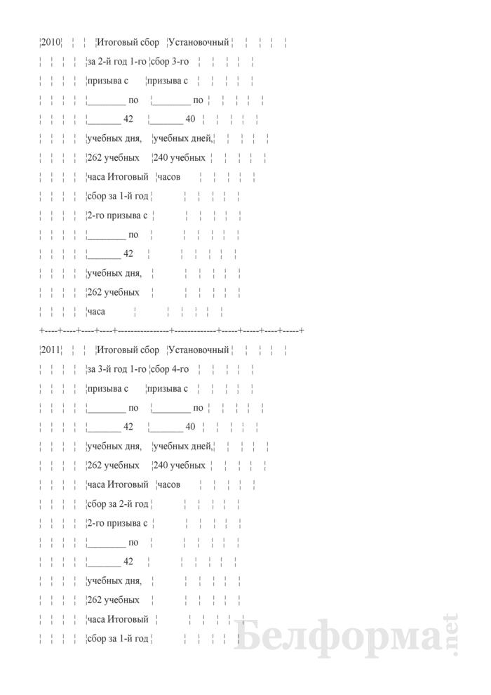 План подготовки резервистов со сроком службы (обучения) три учебных года в соединениях и воинских частях военно-воздушных сил и войск противовоздушной обороны на 2008 - 2011 годы. Страница 2