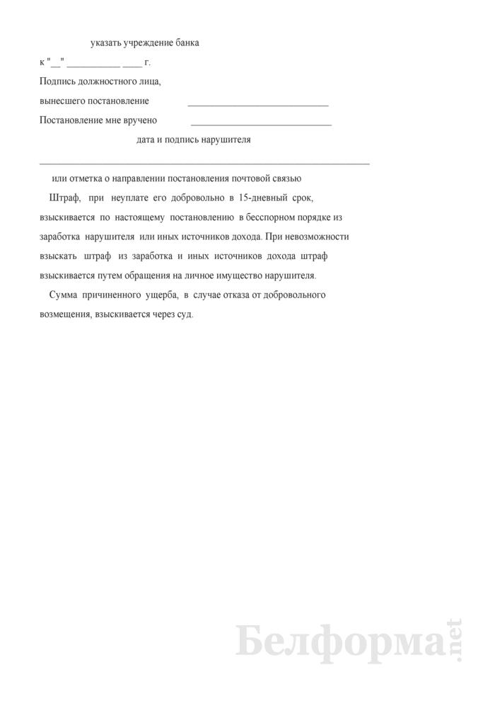 Постановление по делу о нарушении законодательства в области охраны окружающей среды и использования природных ресурсов. Страница 3