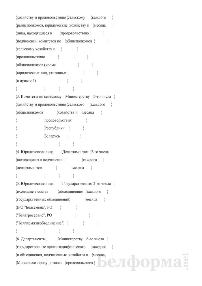 Отчет о ходе поставок товаров на экспорт (ежемесячно). Страница 2