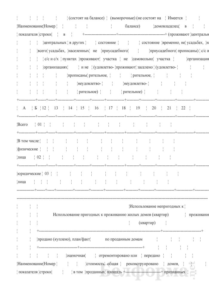Отчет о наличии пустующих жилых домов (квартир) в сельской местности и их использовании (Форма 1 пж сх (полугодовая)). Страница 3