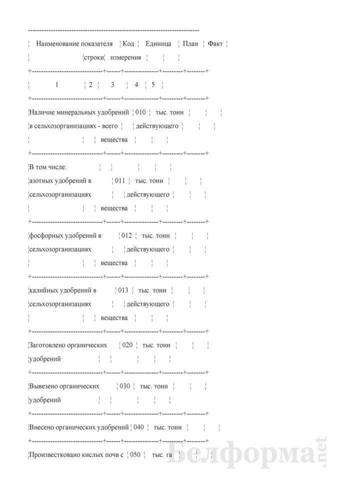 Сведения о накоплении минеральных и внесении органических удобрений (ежемесячно). Страница 2