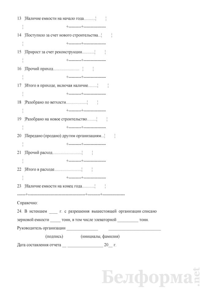 Сведения о наличии зернохранилищ и складских помещений для продукции (Форма 08 (годовая)). Страница 3