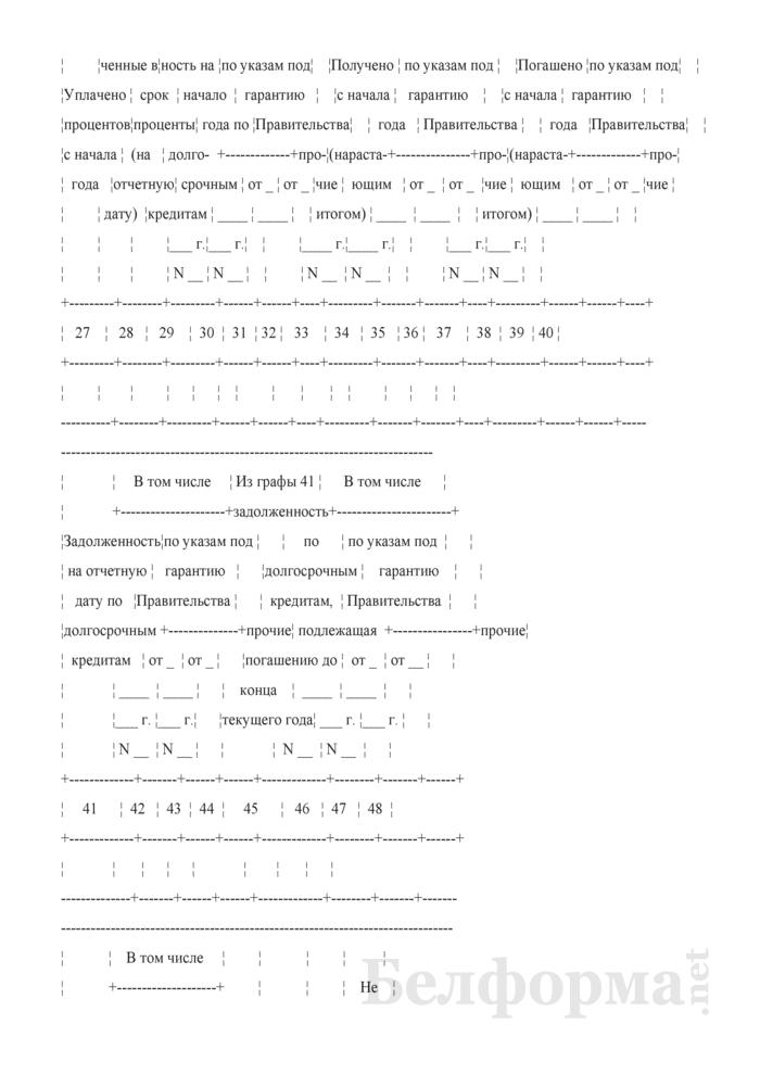 Сведения о получении и погашении заемных средств (Форма 1-ФО (месячная)). Страница 6