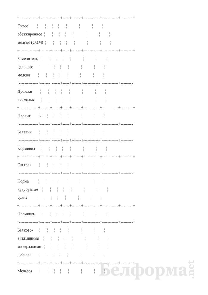 Сведения об остатках, поступлении и расходе незернового комбикормового сырья (Форма 3-СН (незерновое сырье) (ежемесячно)). Страница 3